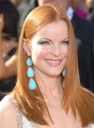 marcia-cross-redhead-long-straight-hairstyle-emmy-awards